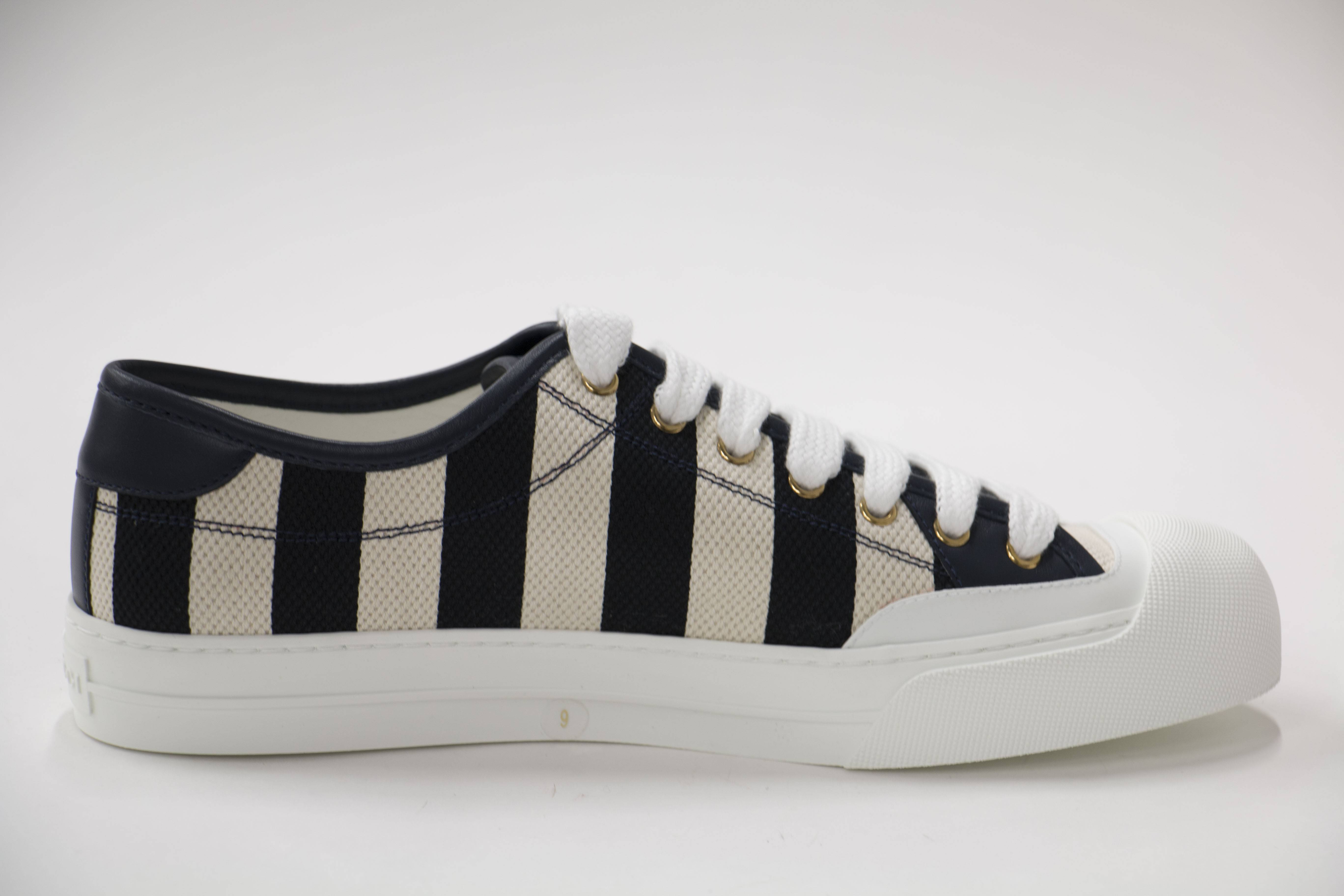 gucci mens striped canvas low top sneakers ebay