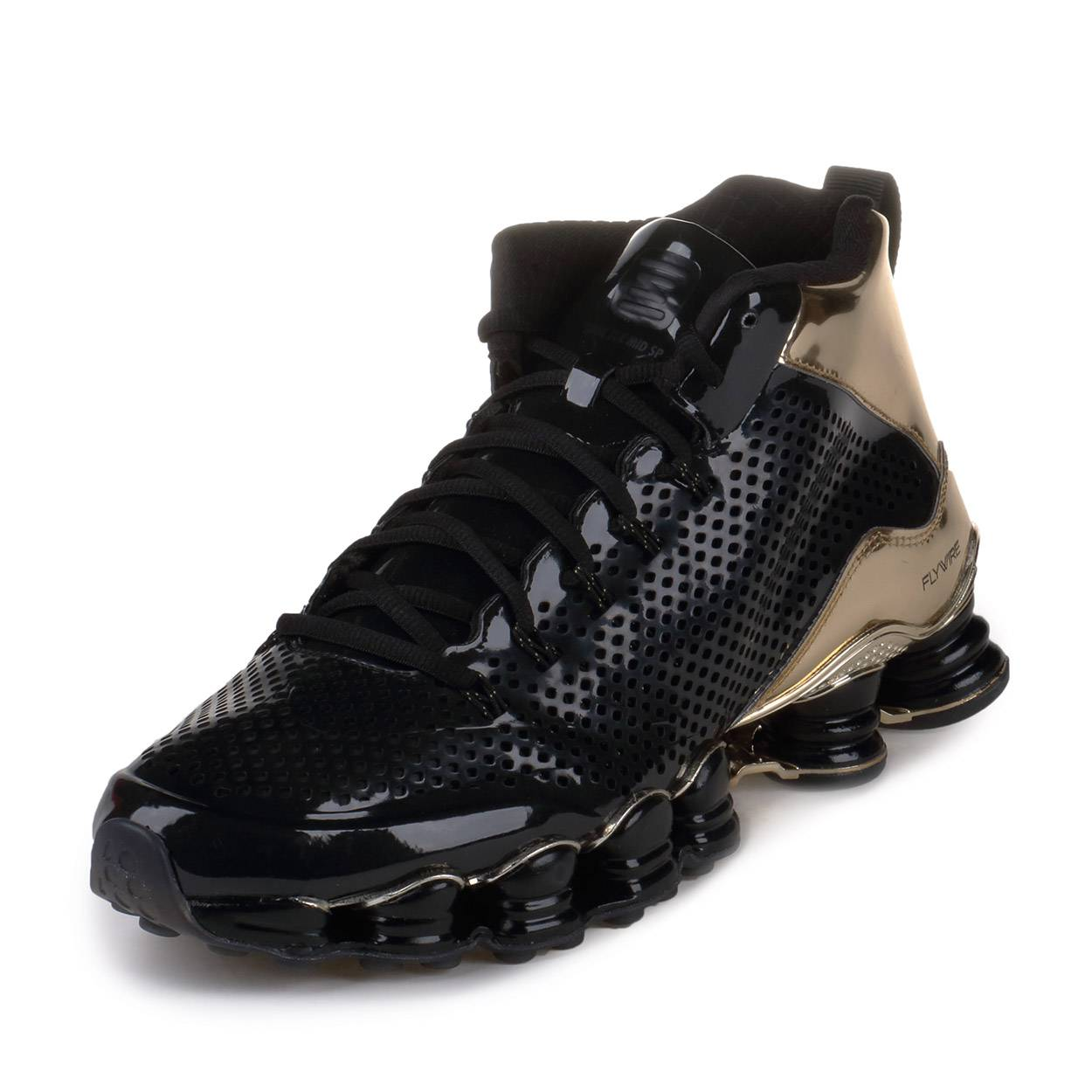 Nike Mens Shox TLX Mid SP Black Black Metallic Gold 677737 002 | eBay