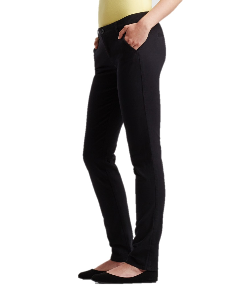 Unique  Skinny Chino Jeans New Womens Navy Elasticated Waist Pants Sizes 614