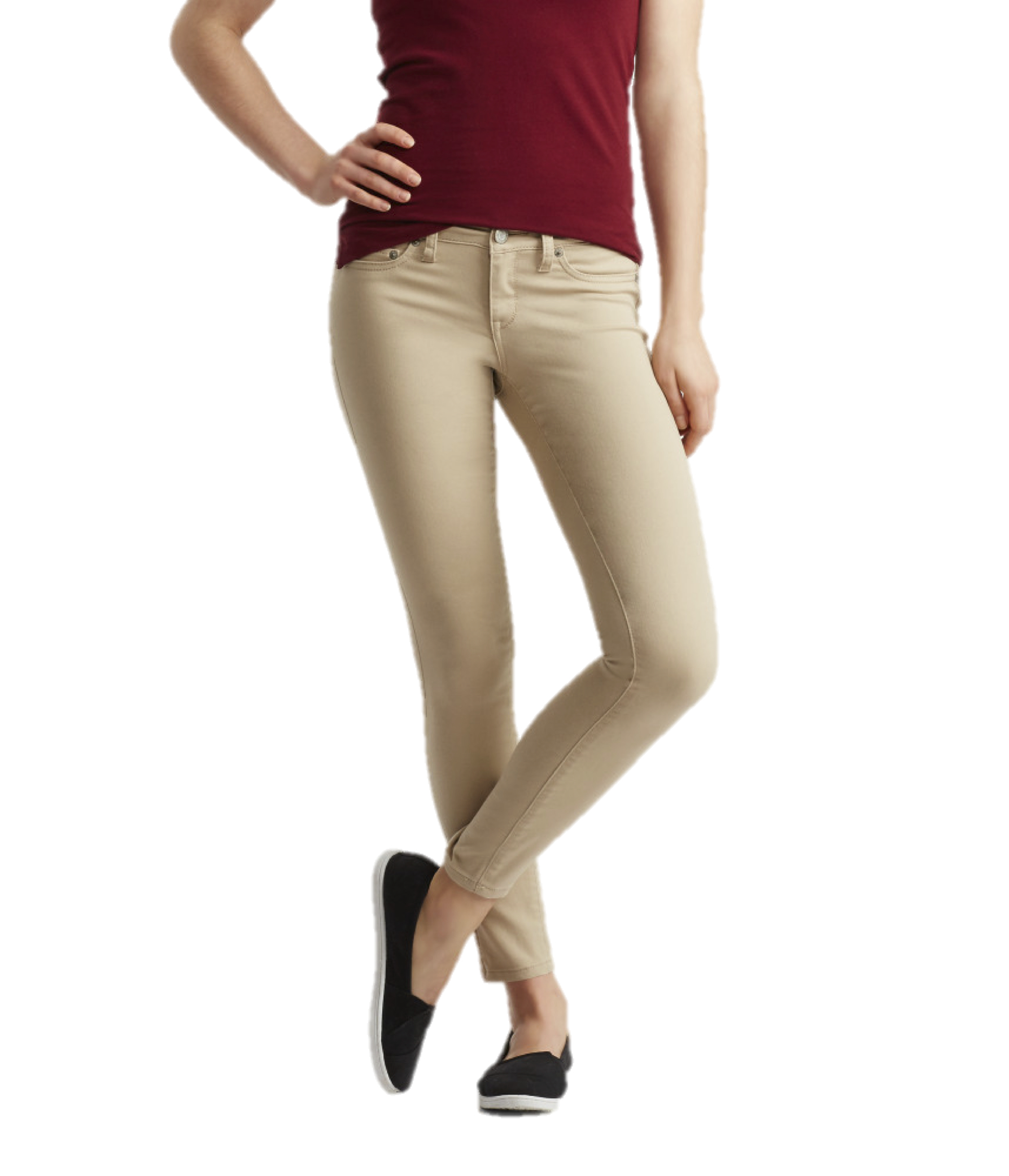 Wonderful AEROPOSTALE WOMENS KHAKI PANTS CHINOS CLASSIC SCHOOL