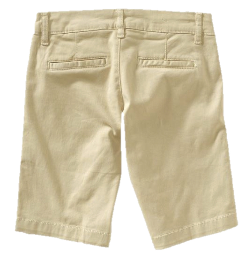 Classic meets comfort with these stylish women's bermuda shorts from Old Navy. Choose from different shades of denim to staple solids such as khaki or black. With simple button and zipper closures their traditional appeal is perfected with chic slanted pockets and the occasional rolled cuffs.