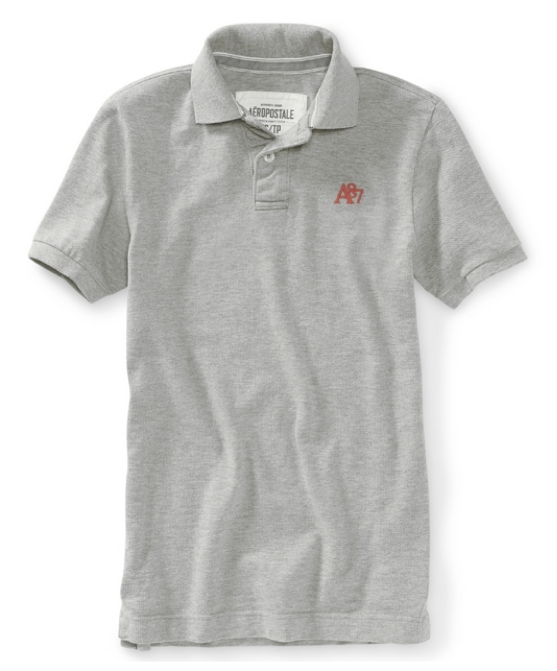 Aeropostale mens solid polo shirt top t shirt a87 logo for Uniform shirts for men