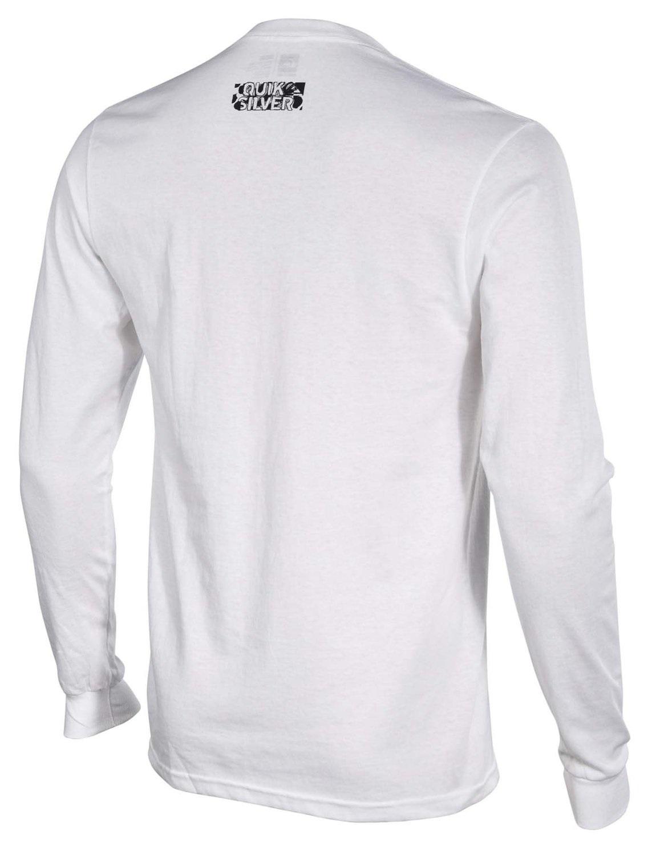 Quiksilver Mens Long Sleeve T Shirt Printed Logos Mix N