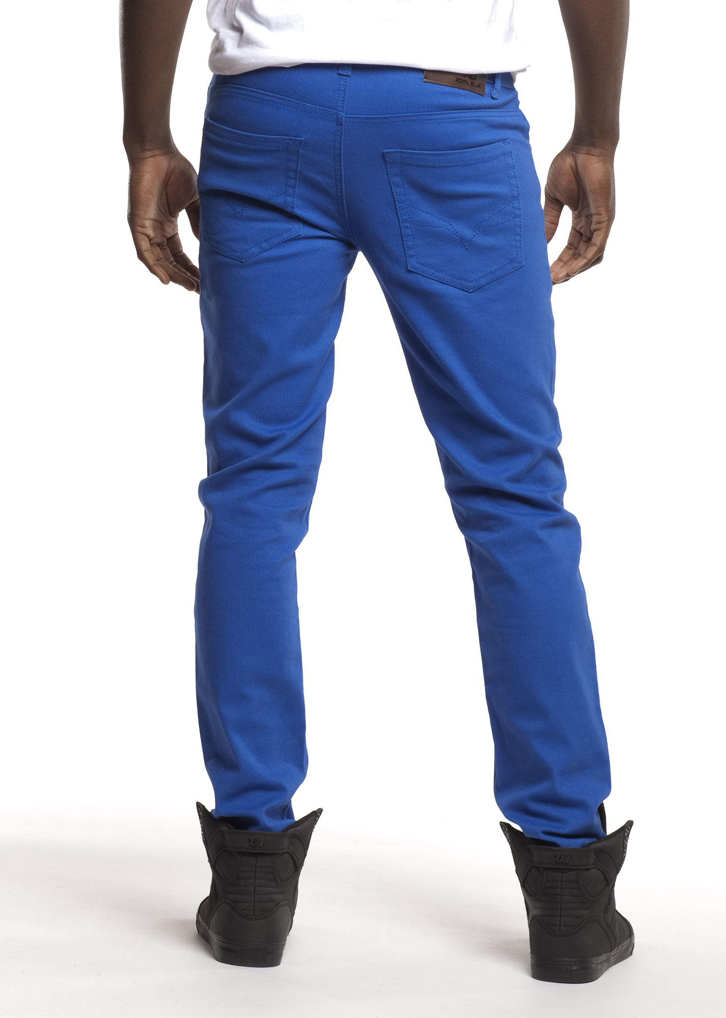 Royal Blue Men's Colored Skinny Stretch Twill Jean Pant