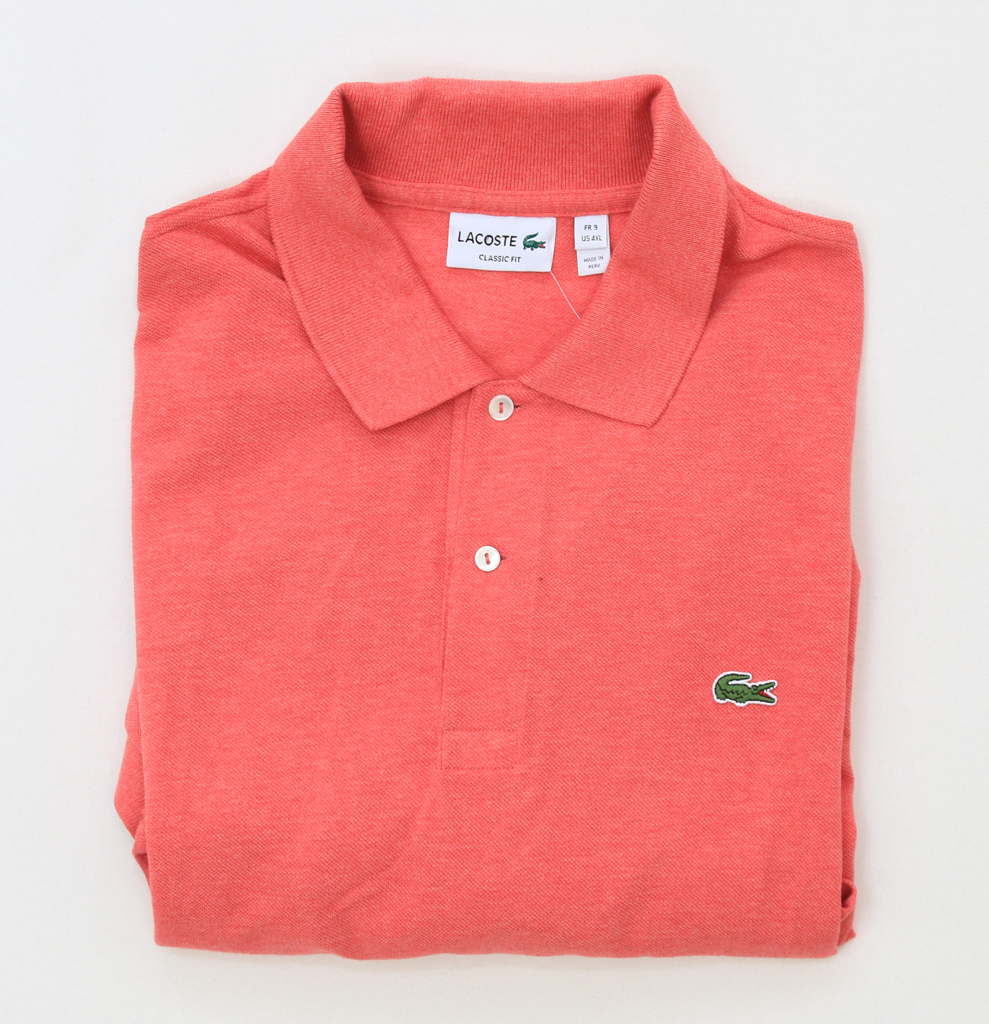 Lacoste men 39 s short sleeve classic fit mesh pique polo for Lacoste stripe pique polo shirt