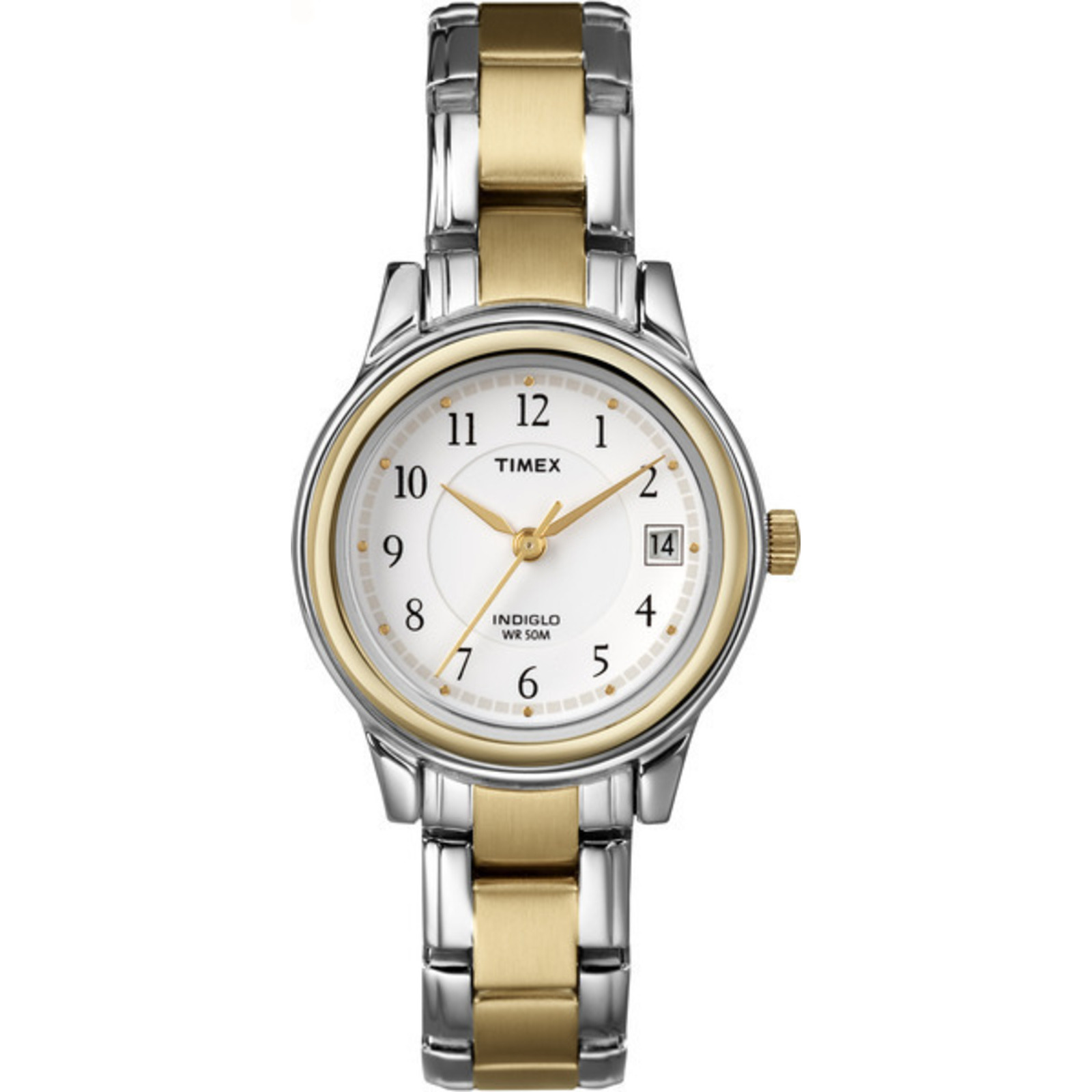 Dress watch stainless steel bracelet case white dial womens timex indiglo ebay for Indiglo watches