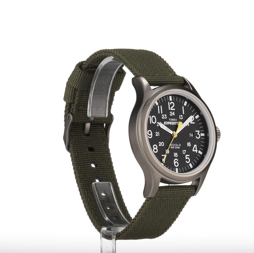 Expedition outdoor watch men 39 s nylon strap black dial 24 hr indiglo timex ebay for Outdoor watches