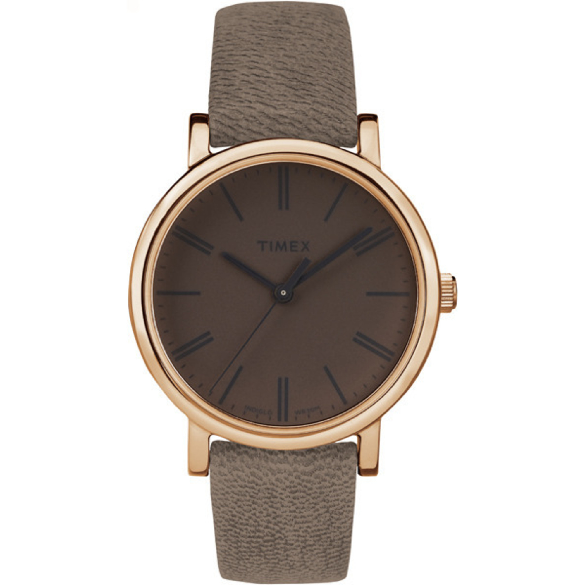 timex originals tonal leather band minimal
