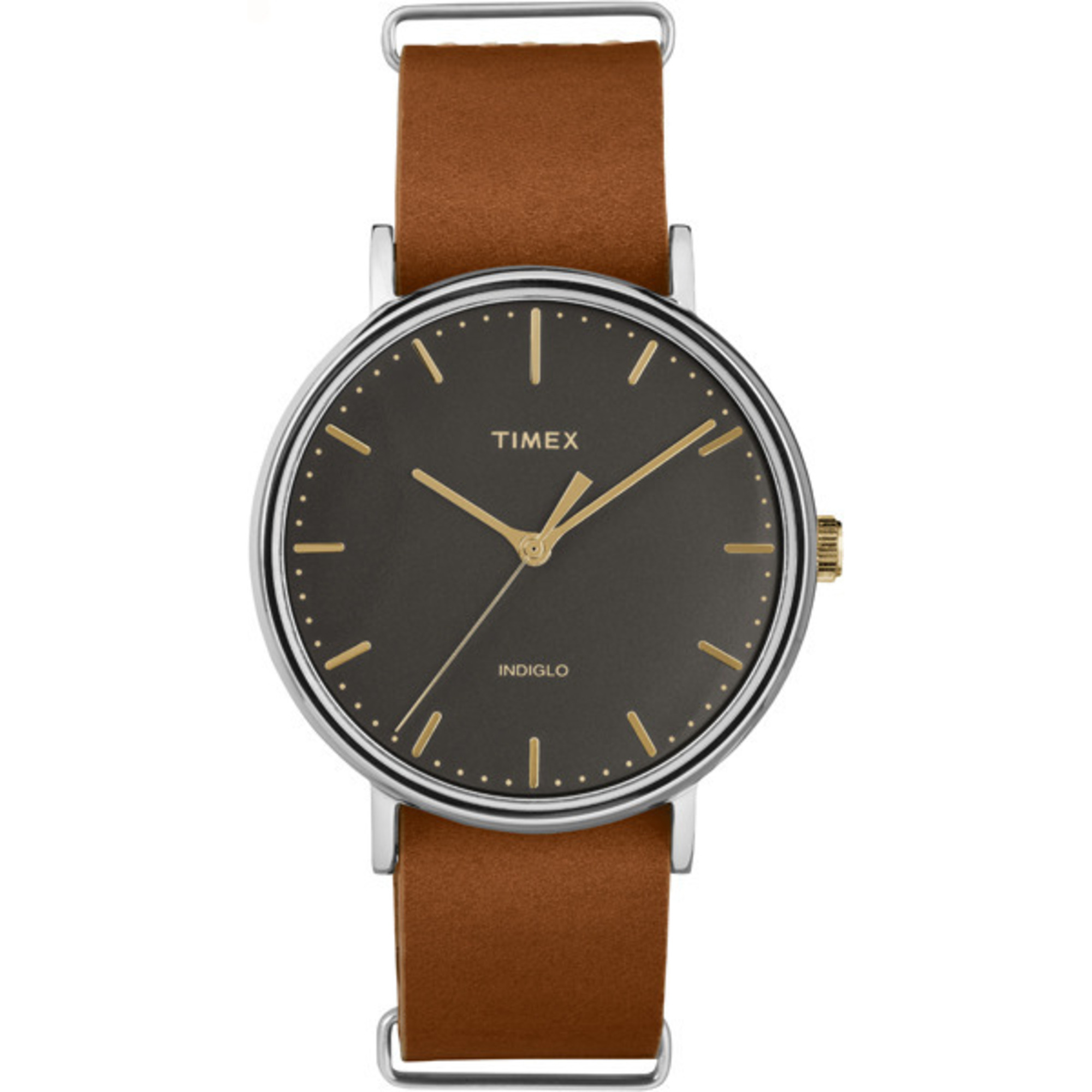 Leather Strap Minimal Black