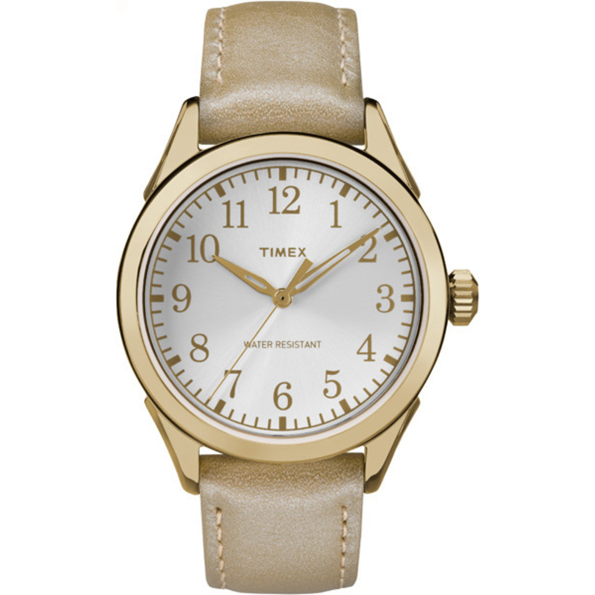 Timex Women's Briarwood Terrace Gold-Tone Strap Silver-Tone