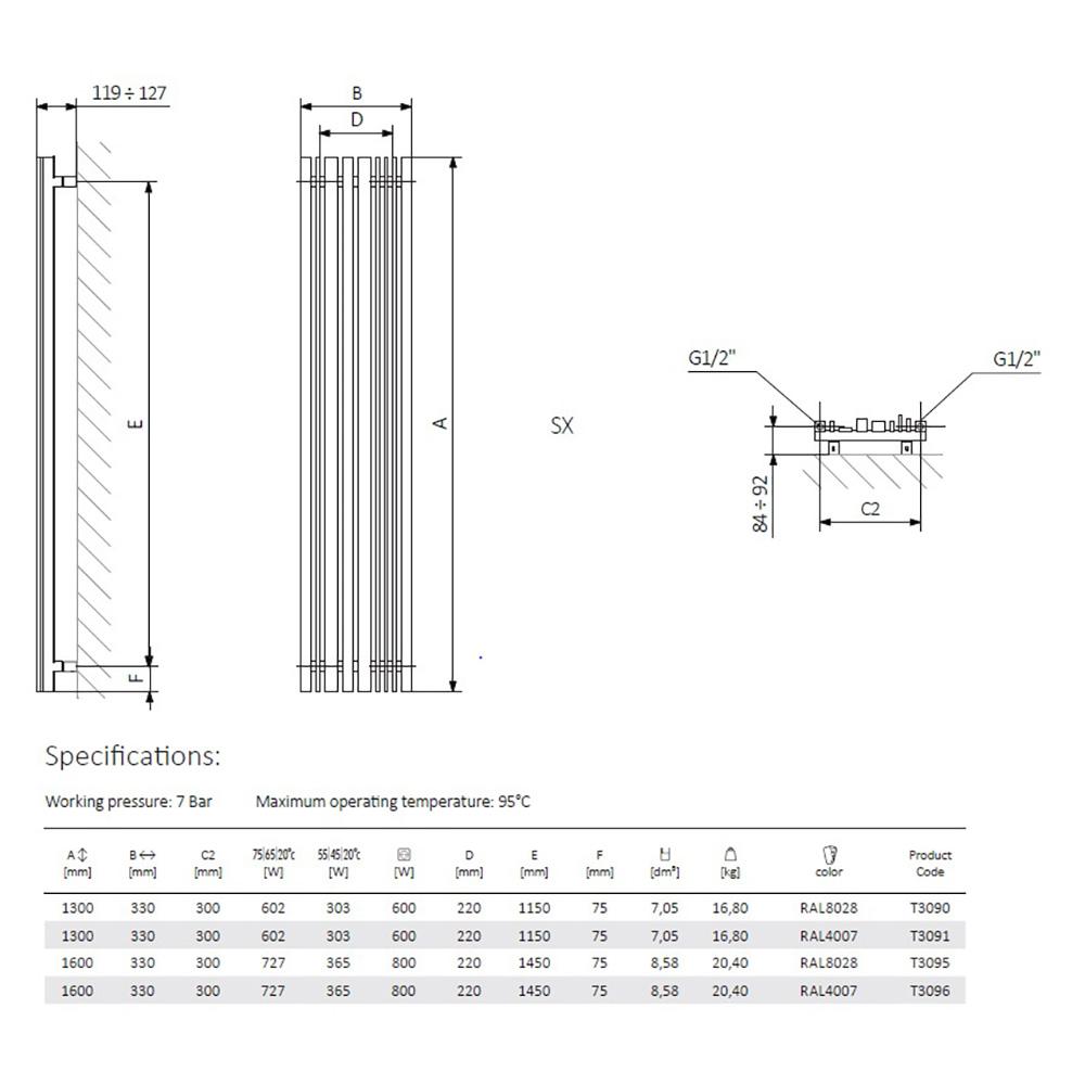 Terma-Sherwood-Terra-Brown-Vertical-Designer-Radiators