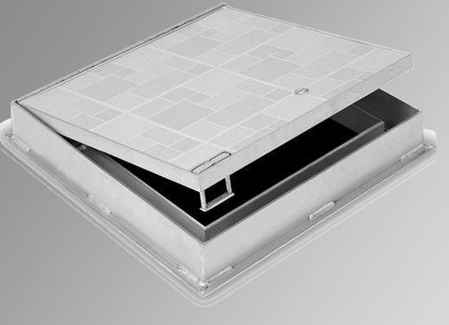 "Acudor FT-8050 Hinged Floor Panel 36""x36"" for Ceramic Tile / Concrete"