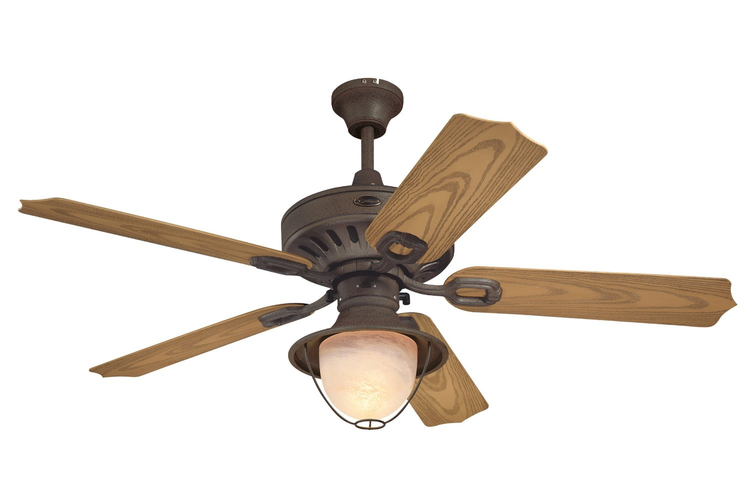 Oak Ceiling Fans With Lights : Westinghouse  quot lafayette ceiling fan w light