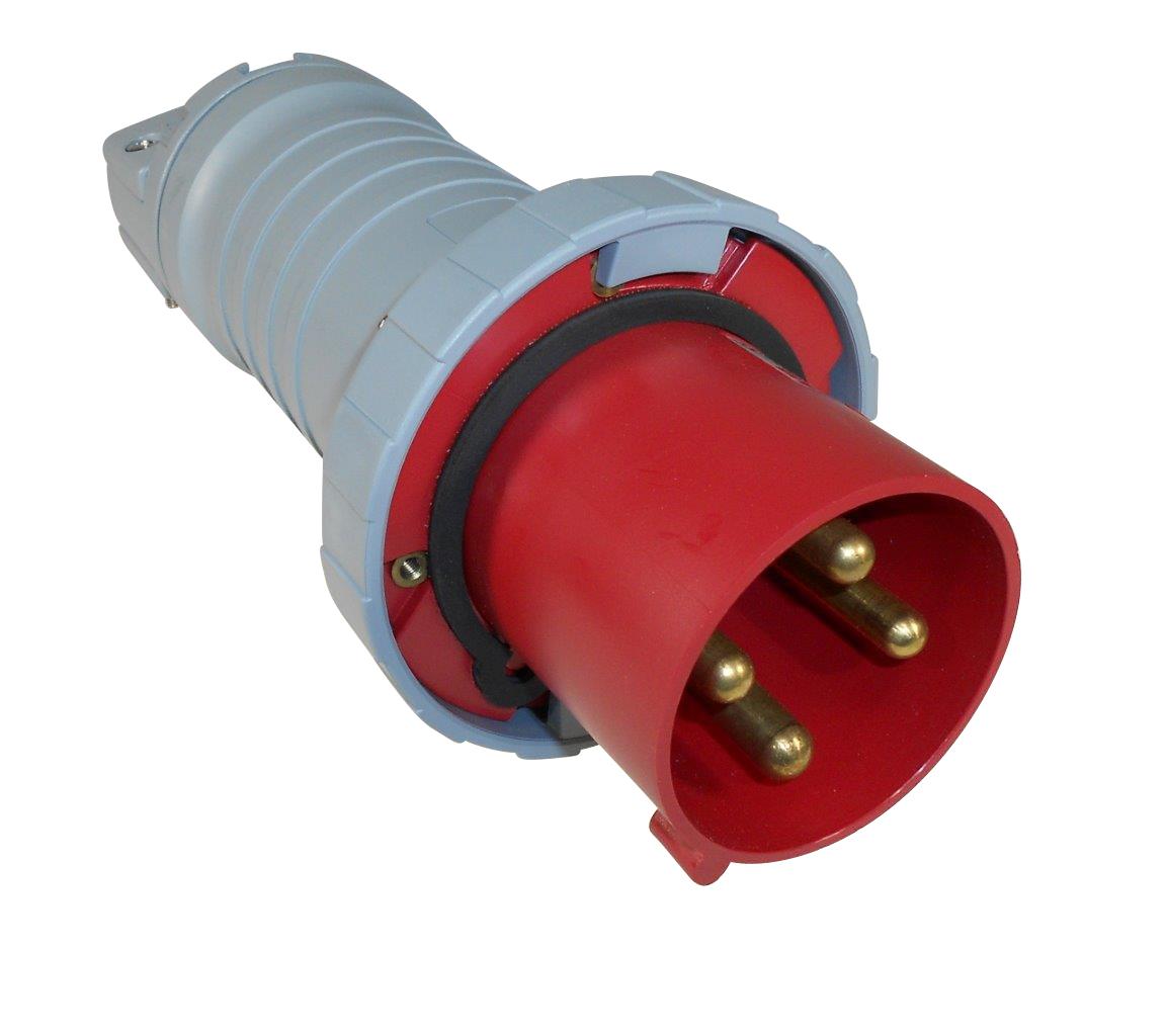 Abb Russelstoll Abb4100p7w Iec Plug 100a 3p 4 Wire 480v 3