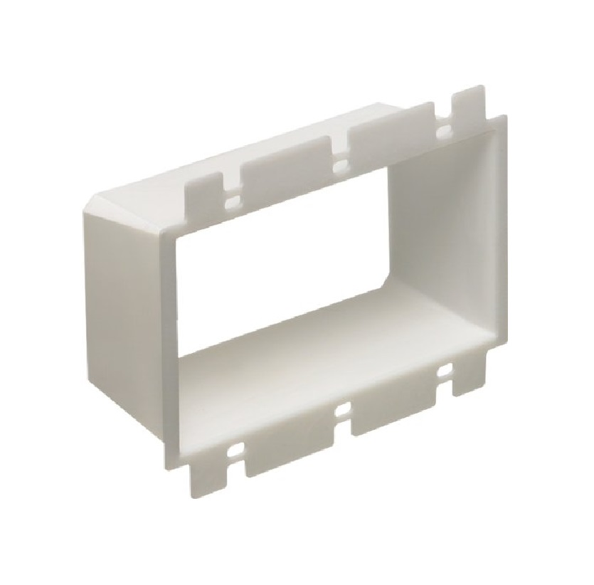 Extension Pigtail With Receptacle Box : Arlington three gang outlet box extender be mounting
