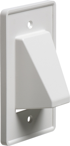 Arlington single gang reversible low voltage cable entrance plate ce1 ebay for Exterior wall cable pass through