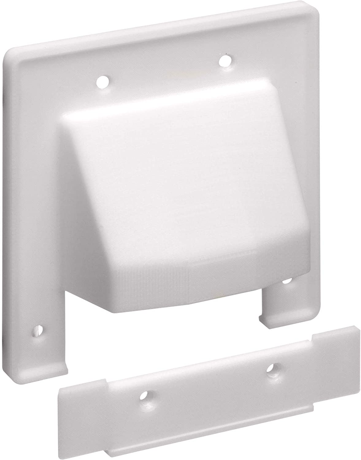 Two Gang Low Voltage Cable Plate : Arlington gang reversible two piece low voltage cable