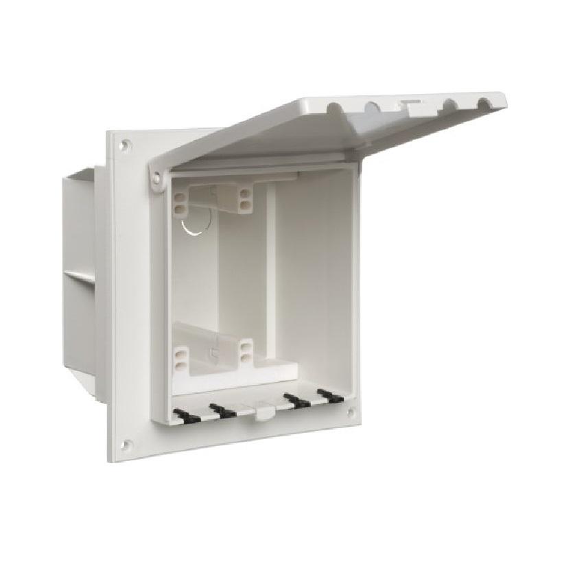 Arlington Non Metal Exterior Keypad Enclosure White W