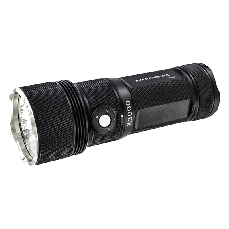 powertac x3k g2 x3000 led rechargeable flashlight. Black Bedroom Furniture Sets. Home Design Ideas