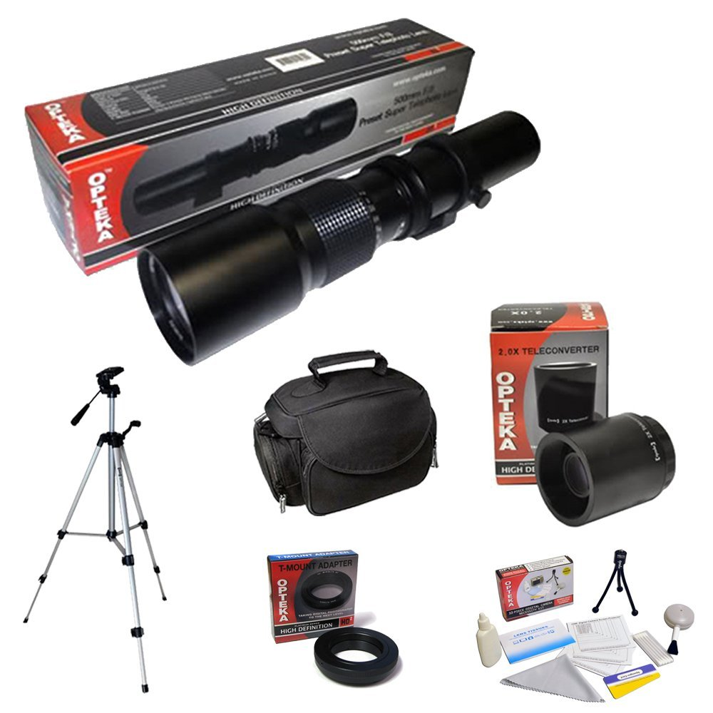 Opteka 500mm-1000mm Telephoto Lens Kit includes Case, Tripod and Cleaning Kit for Nikon DF, D4, D3X, D800, D610, D600, D300S, D7 at Sears.com