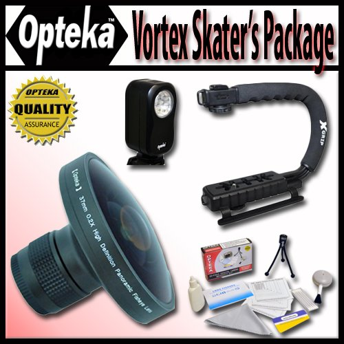 """Opteka Deluxe Vortex """"Skaters"""" Package (Includes the Opteka Platinum Series 0.2X HD Panoramic """"Vortex"""" Fisheye Lens, X-GRIP Camc at Sears.com"""