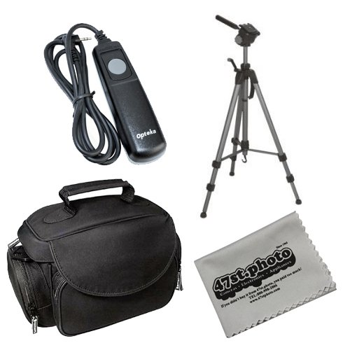 "47st.Photo Starter Deluxe Package with Opteka OPT-7000 70"" Professional Tripod, Opteka Microfiber Deluxe Gadget Bag, Opteka Remote Shutter at Sears.com"