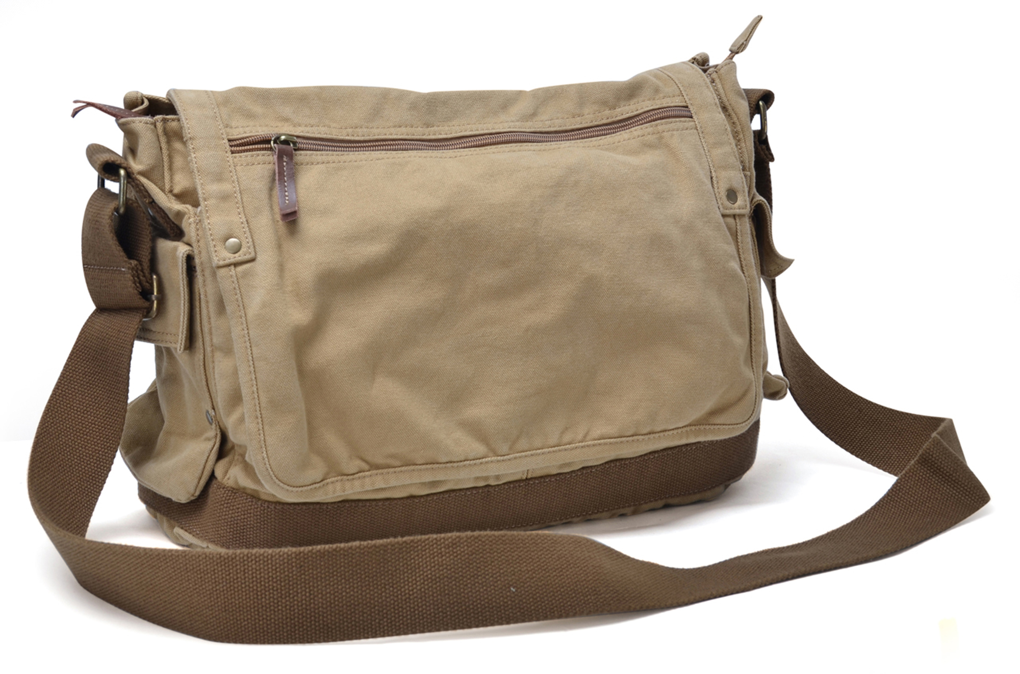 how to wear a canvas messenger bag