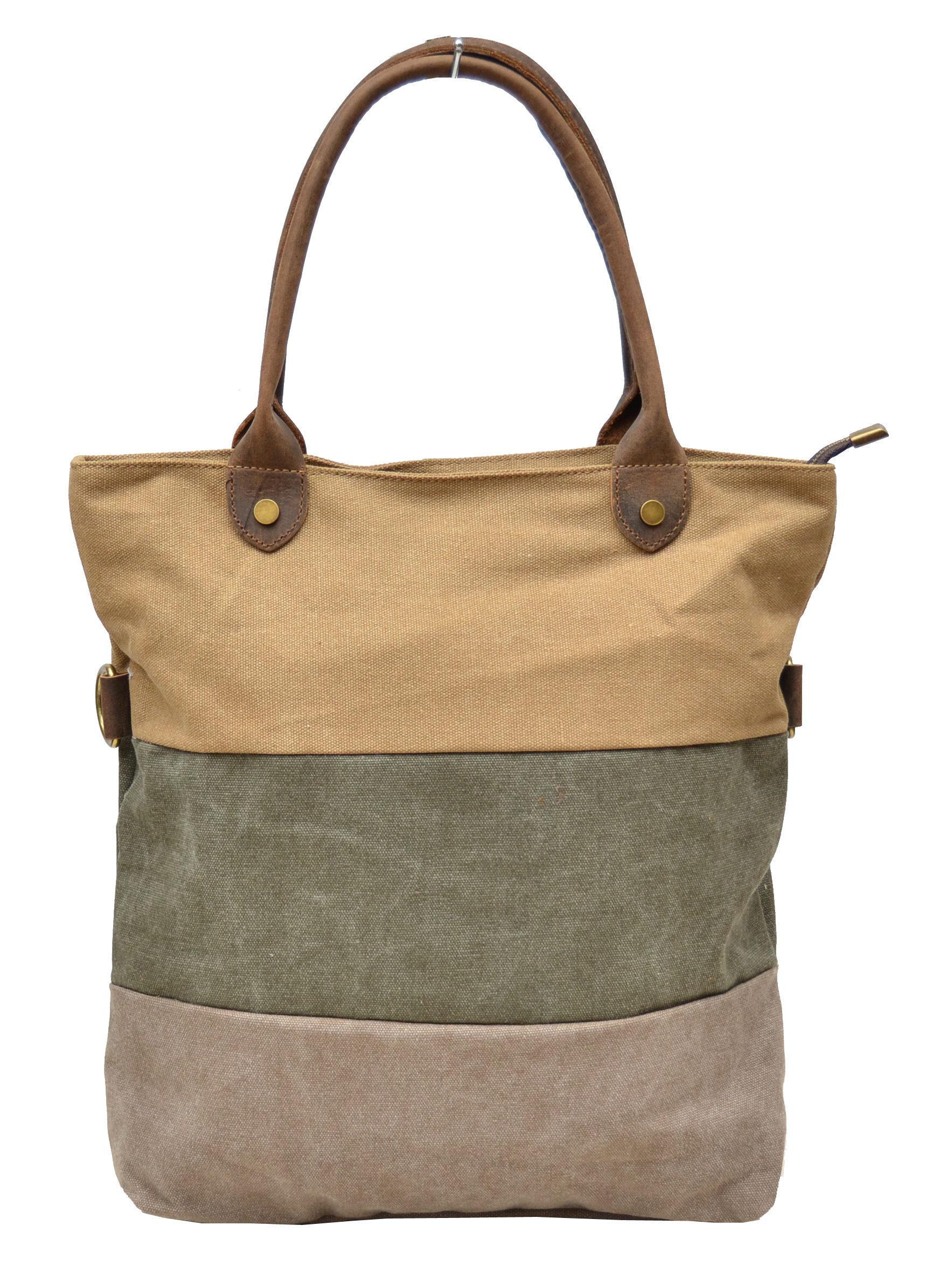Cool Tote Bag For School Black Tote Canvas Bag Khaki Travel Tote For Women - E-CanvasBags