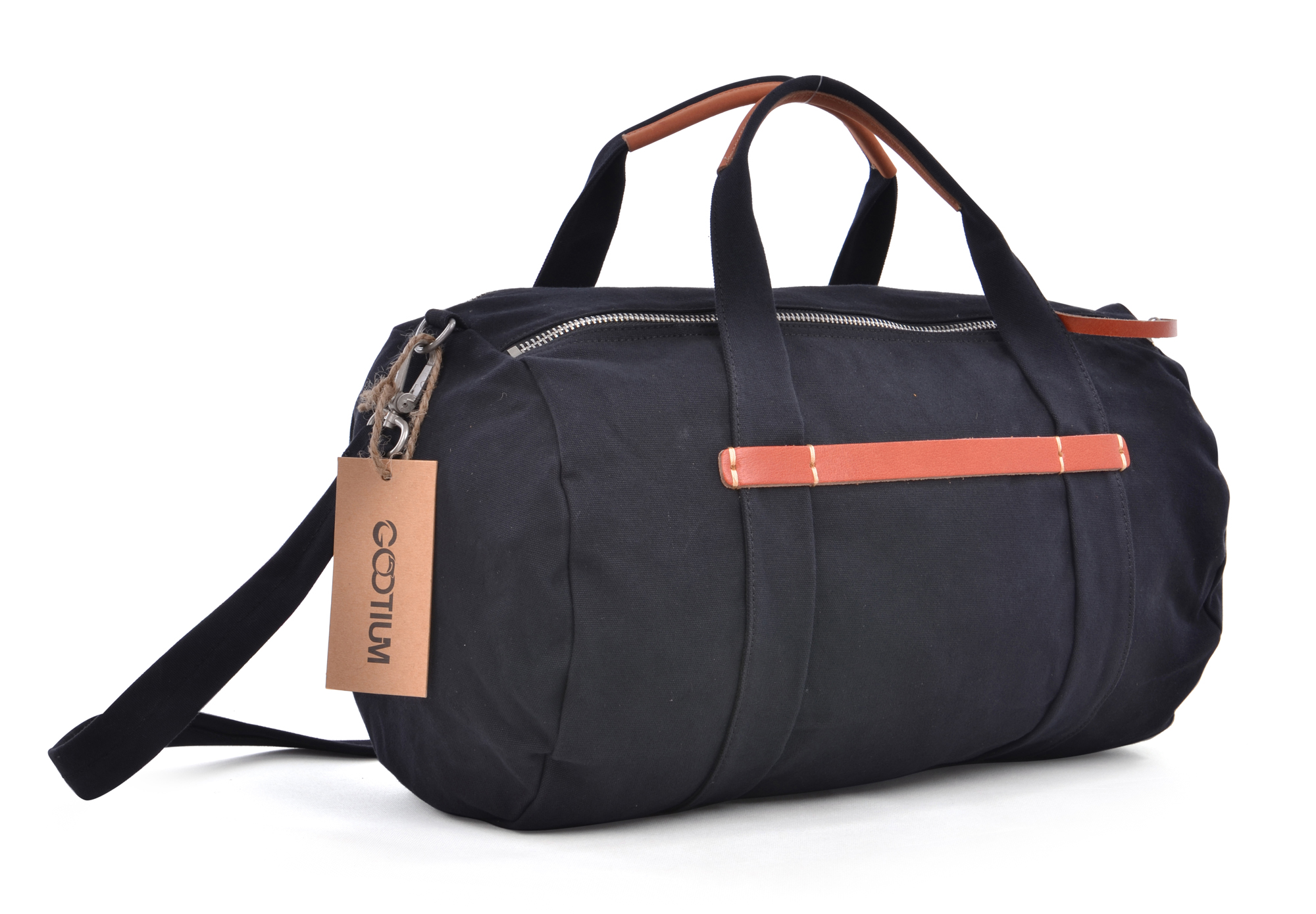 Gootium Canvas Leather Weekend Cross Body Duffle Bag Sports Gym ...
