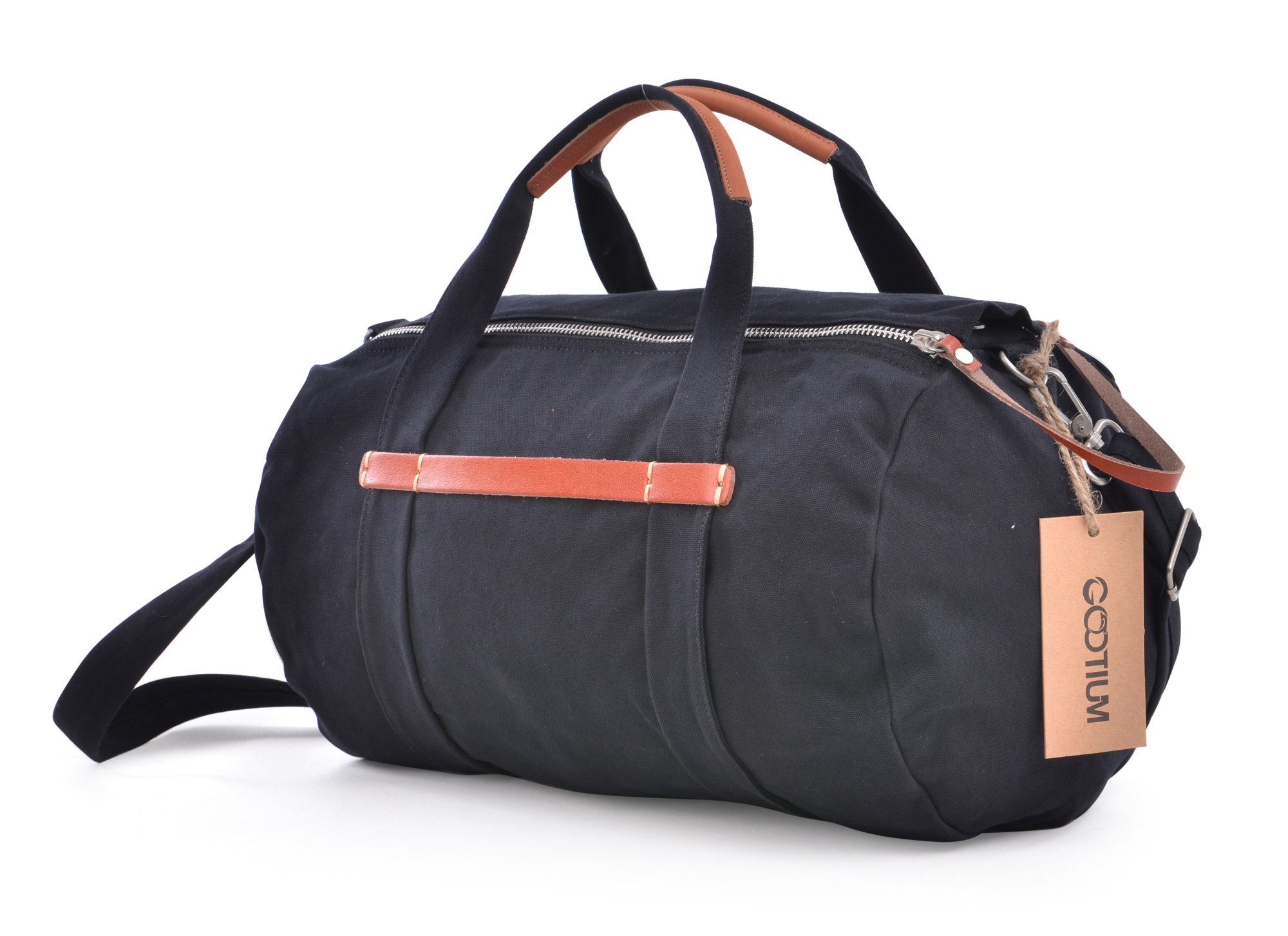 Gootium Canvas Leather Weekend Cross Body Duffle Bag Sports Gym ...