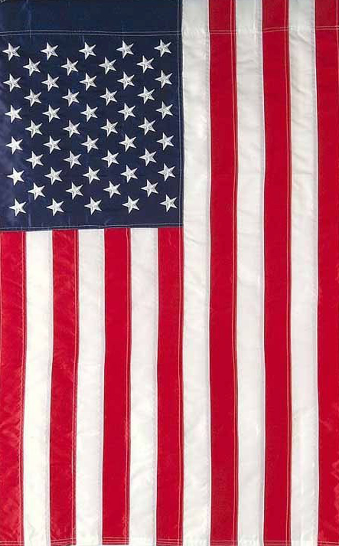 Embroidered american flag garden flag stars stripes usa for American garden company