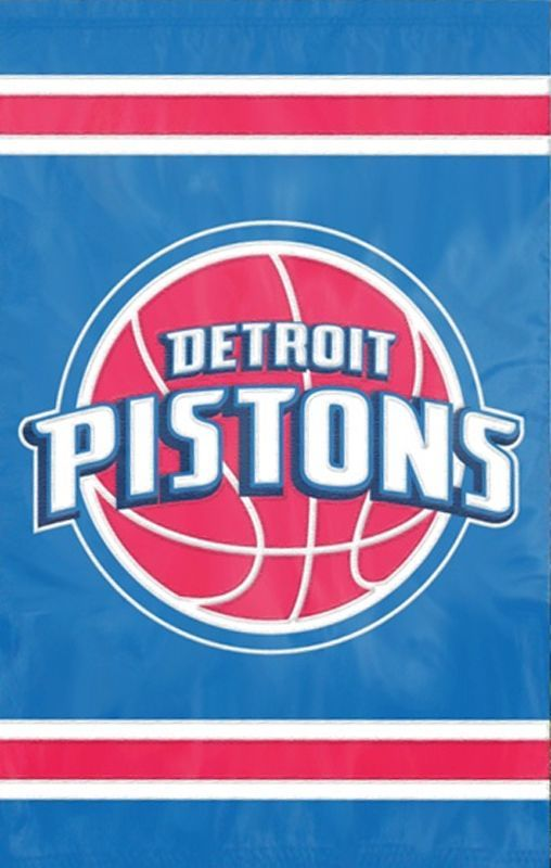 Party Animal The Party Animal NBA Appliqu? House Flag NBA Team: Detroit Pistons - AFROC
