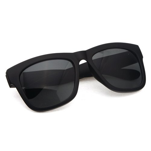Large Thin Frame Glasses Matte Black : Matte Black Sunglasses Classic Fashion Gradient Color ...