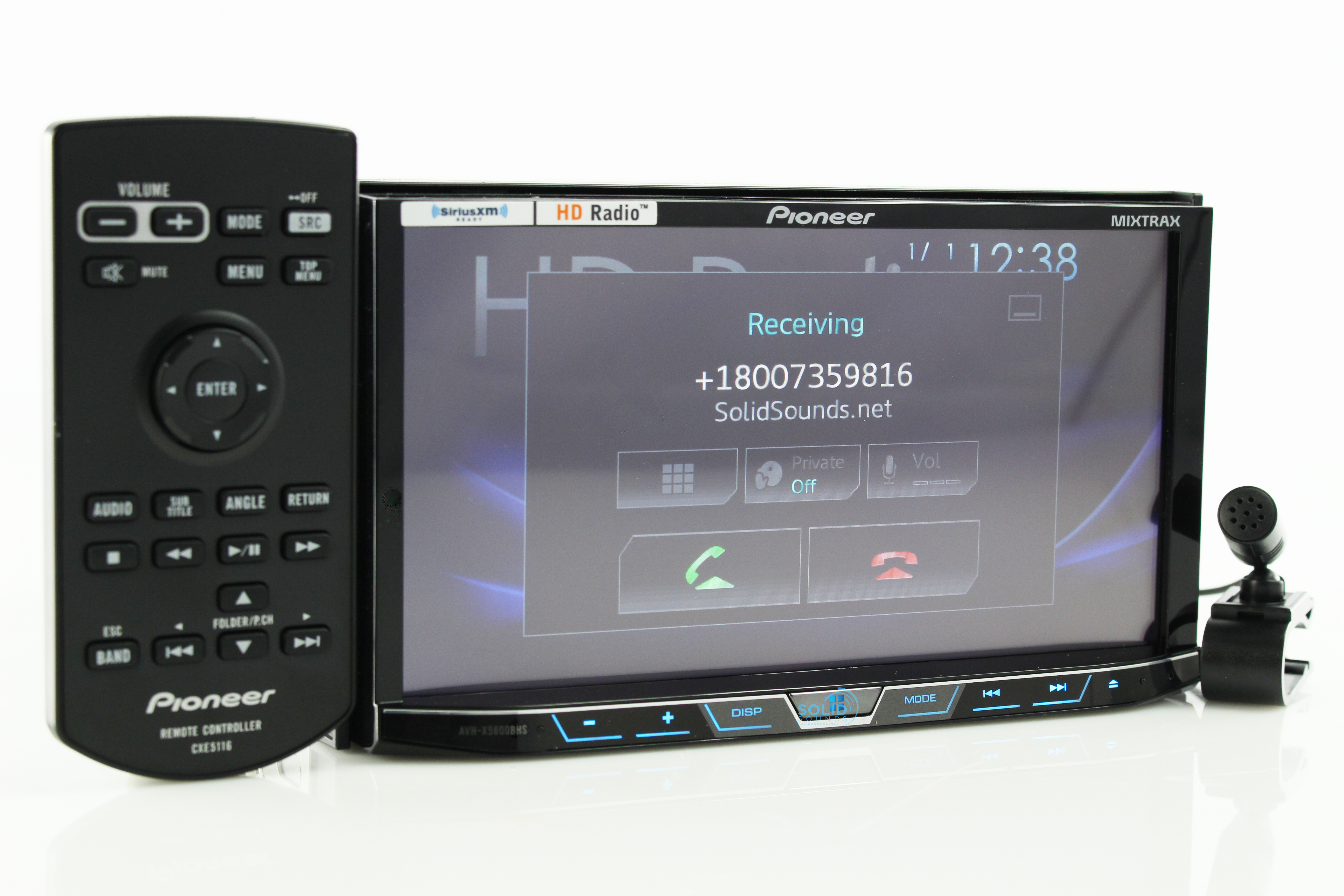 new pioneer avh x5800bhs double din 7 cd bluetooth hd radio dvd xm car audio ebay. Black Bedroom Furniture Sets. Home Design Ideas