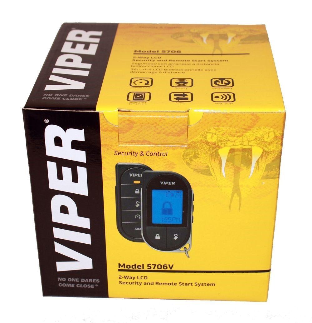 new viper 5706v 2 way car alarm remote starter keyless entry system lcd 5706 ebay. Black Bedroom Furniture Sets. Home Design Ideas