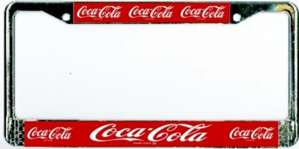 COCA-COLA Metal License Plate Frame  Free Screw Caps with this Frame