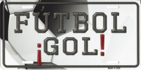 Futbol Gol SOCCER Metal License Plate