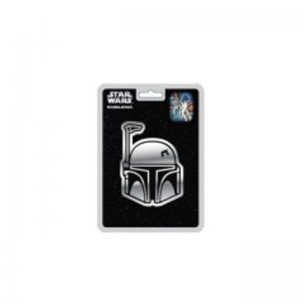 STAR WARS Boba Fett Chrome Auto Emblem