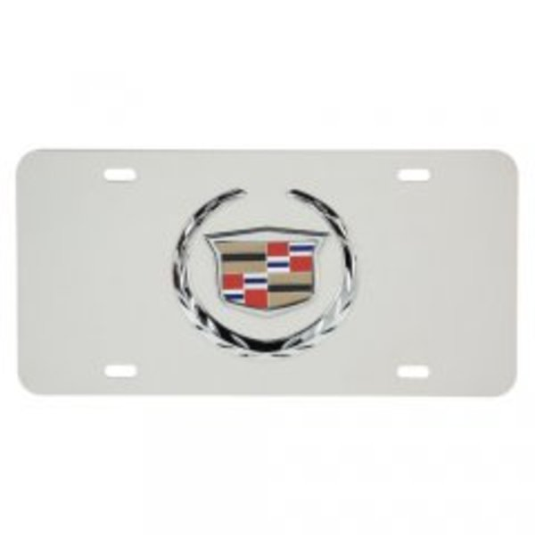 Silver Cadillac Official LICENSED 3-D License Plate