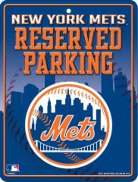 NEW York Mets Metal Reserved Parking Sign