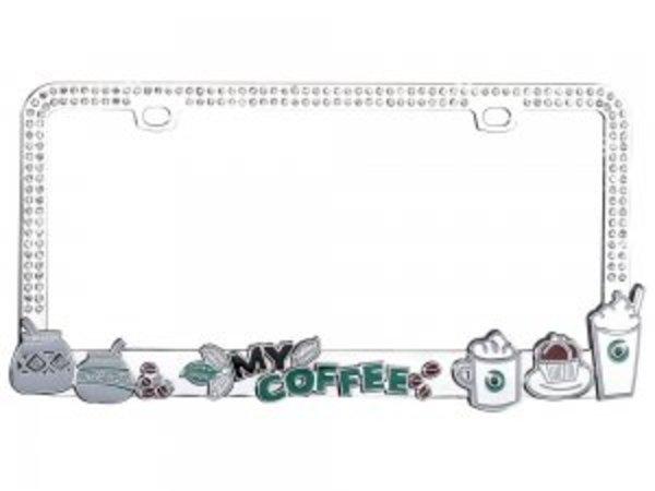 My COFFEE Bling Diamond License Plate Frame