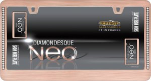 Neo Diamondesque Rose Gold License Plate Frame