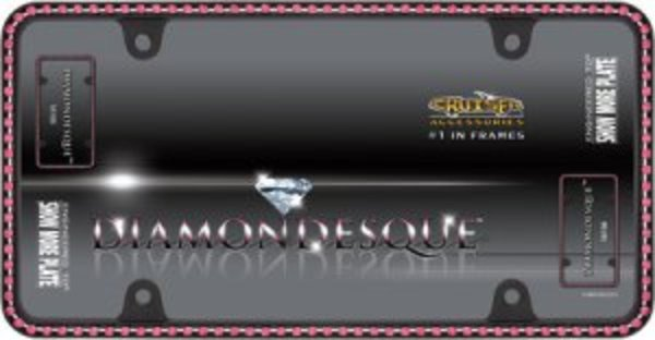 Diamondesque Black FRAME With Pink Diamonds