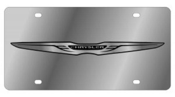Chrysler NEW Logo Stainless Steel License Plate
