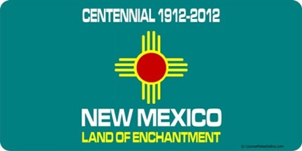 NEW Mexico State Centennial License Plate