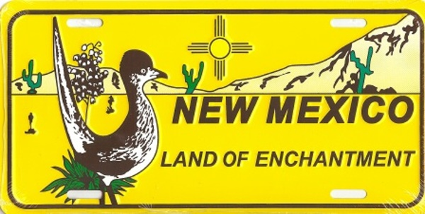 NEW Mexico Land of Enchantment License Plate