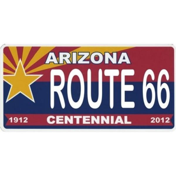Arizona Centennial ROUTE 66 Photo License Plate