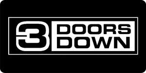 3 DOORs Down License Plate