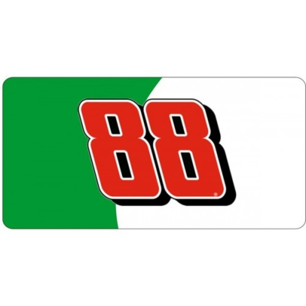 NASCAR #88 Green and White Photo License Plate  Free Personalization on this Plate