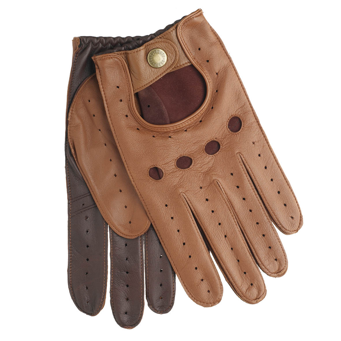 Leather driving gloves dents - Image Is Loading Dents Leather Driving Gloves 5 1021 Cognac English